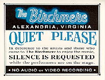 Quiet, The Birchmere