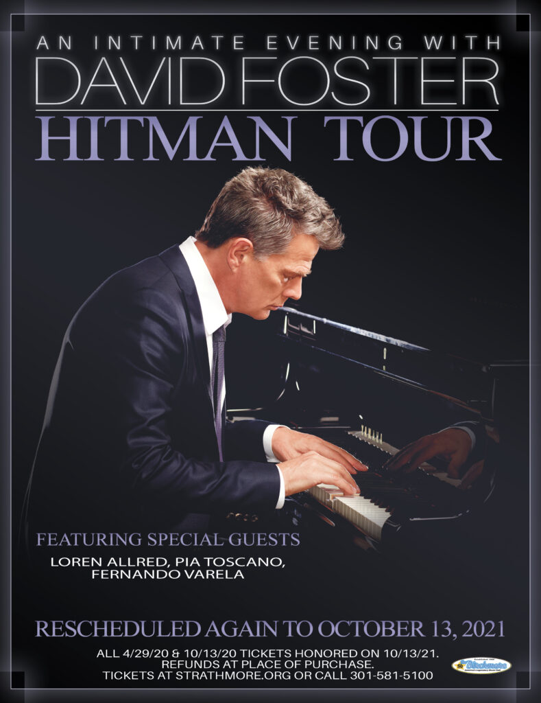 """DAVID FOSTER """"Hitman Tour"""" at Strathmore! – RESCHEDULED AGAIN for"""