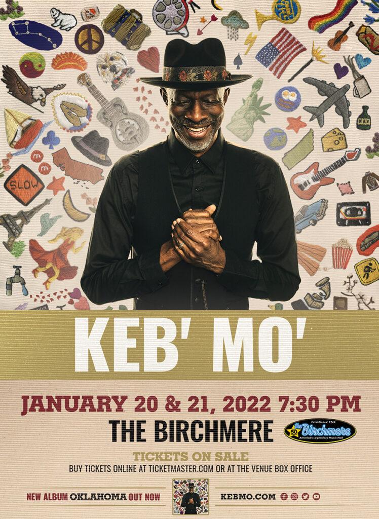 Keb' Mo' January 20 & 21, 2022
