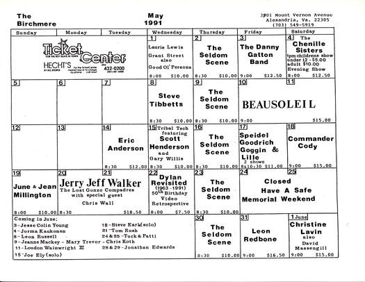 Birchmere » Birchmere Photo Gallery » Archived Birchmere Calendars ...